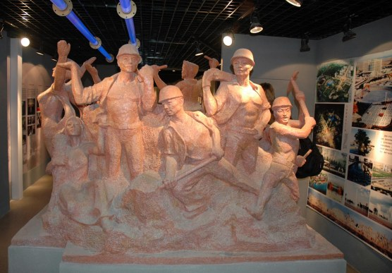 Here's a monument at a museum at the Xi'an University of Architecture and Technology. The Barron Collier High School Band visited the university as part of its visit to China in 2007 (I was a chaperone).