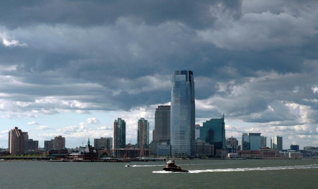 Here's another shot of dark clouds over Manhattan during the start of our cruise to Canada aboard the Carnival Victory in 2005. I grabbed this one as we were leaving New York City.