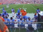Remember these players from the University of Florida's offense in 2006. While the defense was on the field, Chris Leak (sitting far left) and Percy Harvin (sitting center) were waiting for another chance to score a touchdown … and they did a bunch of times that season.
