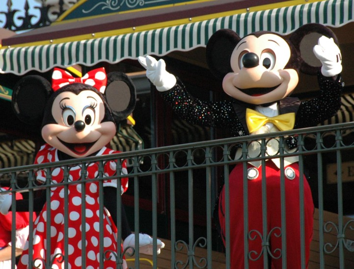 Mickey and Minnie always greet guests each morning at the Welcome Show to open the Magic Kingdom at Walt Disney World. I grabbed this shot in August 2014 after Mickey and Minnie arrive on the Walt Disney World Railroad.