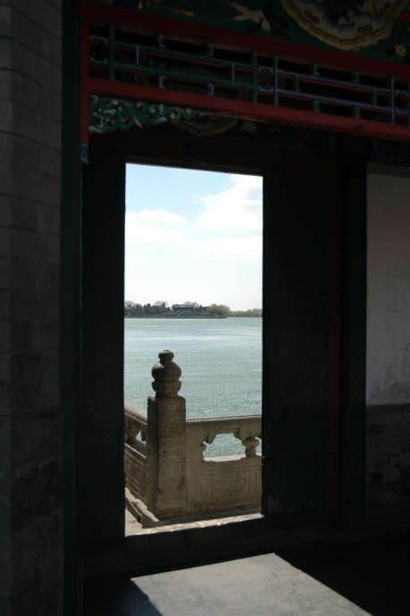 Here's a backlit shot through a doorway at Beijing's Summer Palace that I shot in in 2007 during our trip to China to see the Forbidden City and the terra cotta warriors in Xi'an.