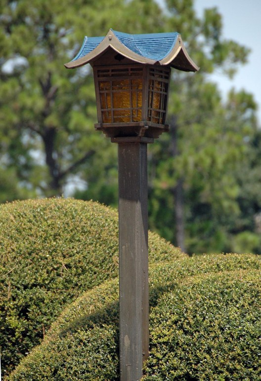 Even the lightposts at the Japan Pavilion at the World Showcase in EPCOT has that Disney touch of detail. I grabbed this shot while we were at the park at Walt Disney World in August 2014.