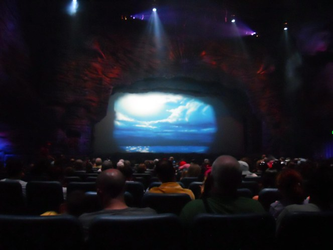 "Here's a look at the stage before the start of the live show ""Voyage of the Little Mermaid"" at Hollywood Studios park. I was testing a camera when we were there in October 2014 for our seventh visit to Walt Disney World since September 2013."