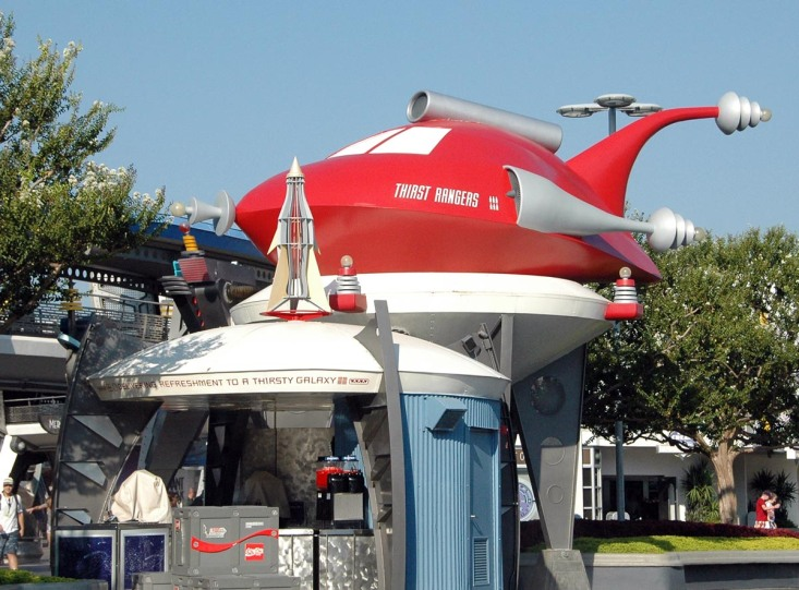 Everything looks futuristic in Tomorrowland at the Magic Kingdom at Walt Disney World. I got this shot in August 2014.