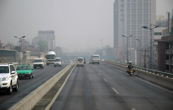 It was a hazy day in Xi'an when we visited the city and saw the terra cotta warriors in April of 2007.