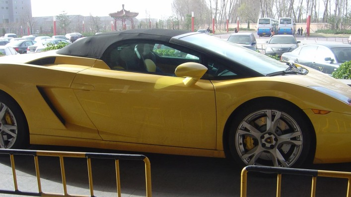 Allison's eye wasn't just on historic site when we visited China in 2007. She grabbed this shot of a Lamborghini outside our hotel near Beijing. We traveled to Beijing and Xi'an as part of a trip of the Barron Collier High School marching band.