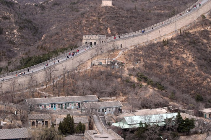 Here's yet another photo from when we visited the Great Wall during our trip to China that began in March 2007. It shows a village near Ju Yong Pass on April 1, 2007. The Barron Collier High School marching band performed in a town square at Ju Yong Pass during the visit.