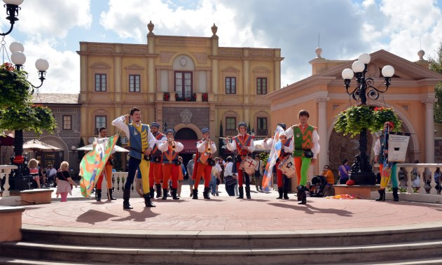 Entertainers come out at the Italy Pavilion and Allison got this shot during a visit to EPCOT on Jan. 3, 2015. Allison and Debbie made a day trip to Walt Disney World to kick off the new year.