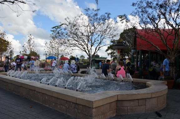 Water is a key element throughout all of Walt Disney World – from the resorts to the parks and right down to the restaurants. Here's a fountain at the France Pavilion. Allison got this shot at the France Pavilion on Jan. 3, 2015, when she and Debbie made a day trip to EPCOT.