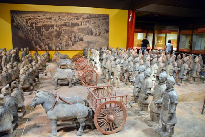 It's a nice exhibit of the terra cotta warriors at the China Pavilion at EPCOT, but when you've visited the real thing in Xi'an in China … well, the exhibit at Walt Disney World is good but not great. Allison got this shot during her and Debbie's day trip on Jan. 3, 2015.