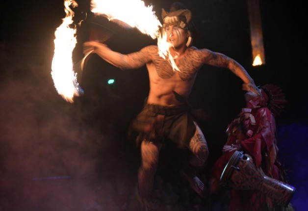 "I got this shot of a performer at the Festival of the Lion King performance. I call him the ""fire dude"" and I got the shot Feb. 8, 2015, while we were at the Animal Kingdom park."