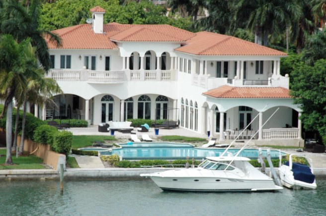 Just like in our hometown of Naples, there's no shortage of mansions and boats in Miami – especially in the waterways parallel to the cruise ship passage out to the Atlantic Ocean via the Government Cut. This show is across the causeway as we left the Port of Miami in the summer of 2010.