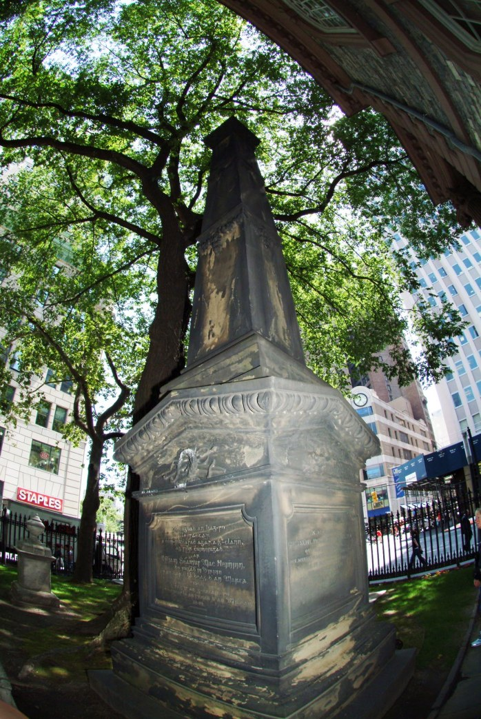 Here is another shot of the historic graveyard at St. Paul's Chapel in New York City from our visit in 2007. In the wake of the 9-11 terrorist attack on New York's Twin Towers in 2001, the chapel was used by rescuers and emergency workers.