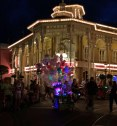 Debbie got this neat nighttime shot on Main Street at the Magic Kingdom on May 15, 2015. She and Allison were at Walt Disney World for the Star Wars Weekend. The illumination of the balloon cast member is pretty cool.