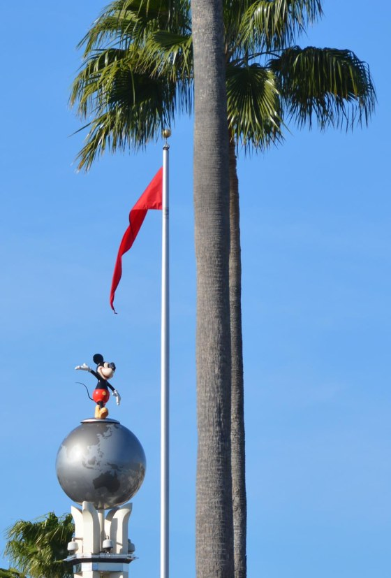 Mickey's literally on top of his world in this decoration at the entrance to Disney's Hollywood Studios. I got this shot as we entered the park on at at Walt Disney World on Feb. 7, 2015.