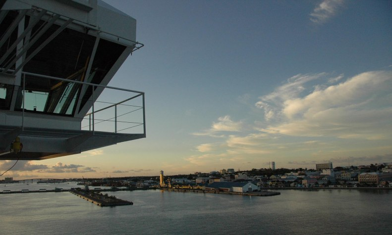 Here's another one of the morning sun on the harbor at Nassau in the Bahamas. I got this shot during our cruise in 2008.