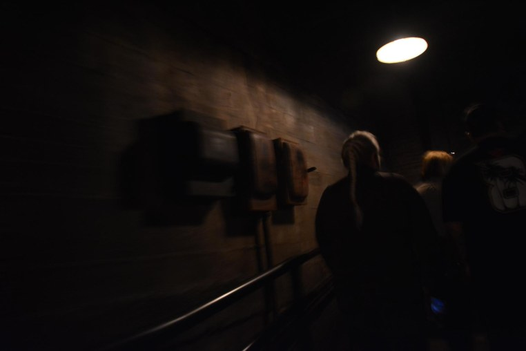 Here's another one I got in the semi-darkness while in the line leading to the elevators of The Twilight Zone Tower of Terror. It was early, so we had a fast-moving line on one of our favorite rides at Disney's Hollywood Studios. I got this shot on Feb. 7, 2015, while we were enjoying a long weekend at Walt Disney World.