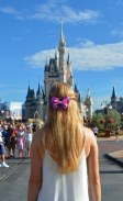 Here's a shot Debbie got of Allison stopped on Main Street U.S.A. in the Magic Kingdom and looking at Cinderella Castle in the distance on Aug. 17, 2015. Allison is wearing one of her handmade Disney-inspired bow. She and Debbie were at Walt Disney World for a long weekend trip before Allison returned to the University of Florida for fall classes.