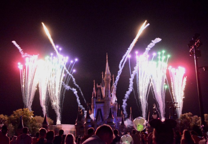 Allison got some nice shots of the fireworks at Walt Disney World on Friday, Oct. 16, 2015, during Mickey's Not-So-Scary Halloween Party at the Magic Kingdom.