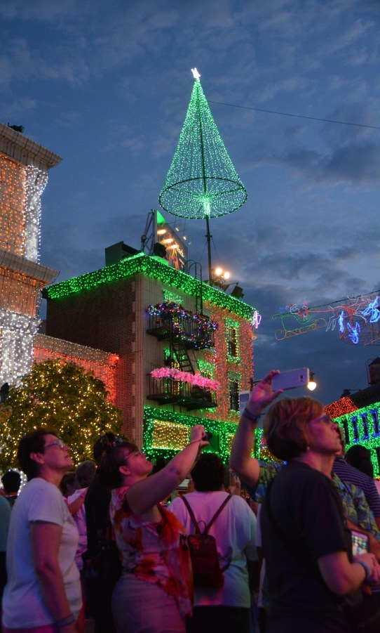 It's kind of impossible to get this kind of nice shot at the the Osborne Family Spectacle of Dancing Lights at Walt Disney World. We were on a day trip on Nov. 1, 2015, when I got this shot. It was the first night of this year's final season of the Osborne Family Spectacle of Dancing Lights on the Streets of America area of Disney's Hollywood Studios.
