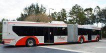 In 2014 I posted my first shot of the then-new accordion-style bus being used in the Walt Disney World transportation system. Here's a shot Allison got Dec. 15, 2015, while waiting for her and Debbie's bus to arrive at Disney's All-Star Movies Resort.