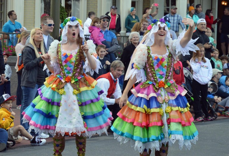I like this shot Allison got of performers during the Main Street parade at the Magic Kingdom on Jan. 17, 2016. The background is a bit cluttered, but you can't ask for better expressions. Allison was at Walt Disney World on a day trip when she got the shot.