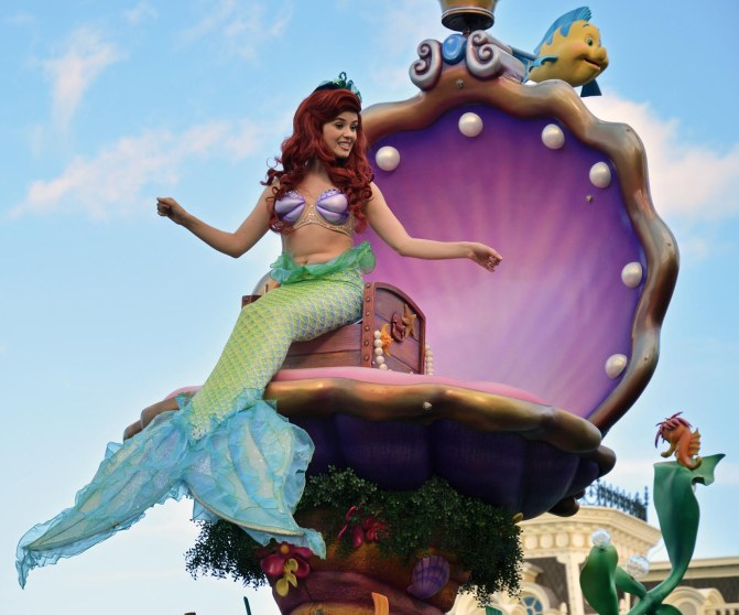 "Allison got this shot of ""Ariel"" during the parade at the Magic Kingdom at Walt Disney World on Jan. 17, 2016."