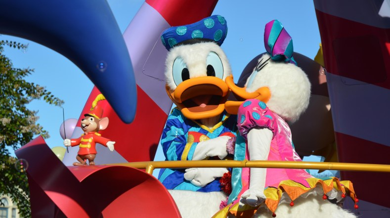 Allison got some nice shots of the daily parade at the Magic Kingdom on Jan. 17, 2016. Here's Donald Duck and Daisy Allison was at Walt Disney World on a day trip when she got the shot.