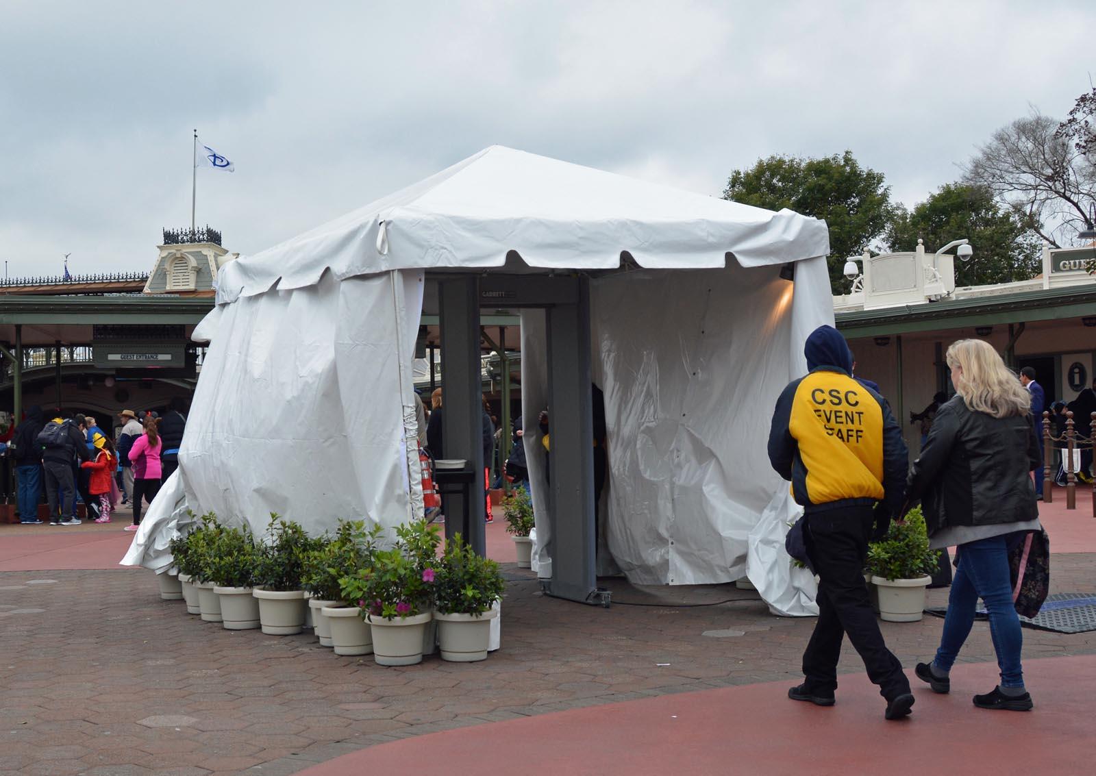 Hereu0027s a look at the new(er) security measure being taken at Walt Disney & Todayu0027s Disney photo: Metal detector at Magic Kingdom u2013 A GATOR IN ...