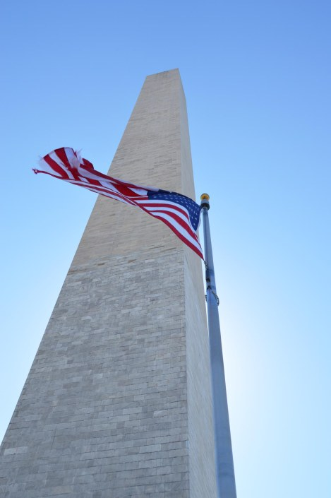 Allison got a bunch of wonderful shots of the Washington Monument during her Spring Break trip to Washington D.C. Here's an upshot of the obelisk that she got Feb. 27, 2016.