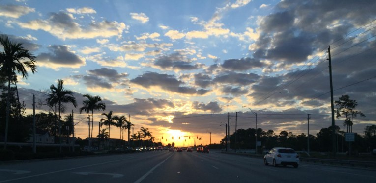 OK, so I post a bunch of sunset and sunrise photos. I can't help it when a sunset is this beautiful. I got the shot as I waited at a traffic signal at Immokalee and Vanderbilt roads in North Naples, Fla., on March 22, 2016.