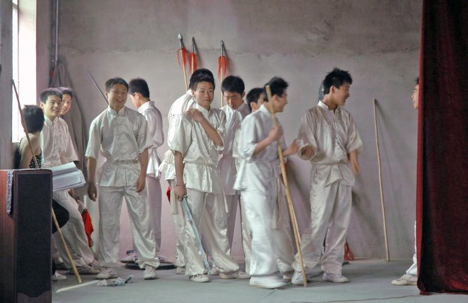 I've enjoyed posting shots I got at a martial arts academy we visited in Xi'an during our trip to China in 2007. Here is a group of young martial arts students waiting to perform for us. We were on the trip to China with the Barron Collier High School marching band and went to Beijing and Xi'an, which is home to the terracotta warriors.