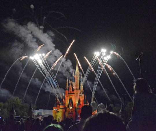 As we come to and in the spirit of the Fourth of July of 2016, I'm posting a few fireworks photos by Allison. She got some great shots of fireworks on Friday, Oct. 16, 2015, during Mickey's Not-So-Scary Halloween Party at the Magic Kingdom. Of course the fireworks go off over the Cinderella Castle at Walt Disney World.