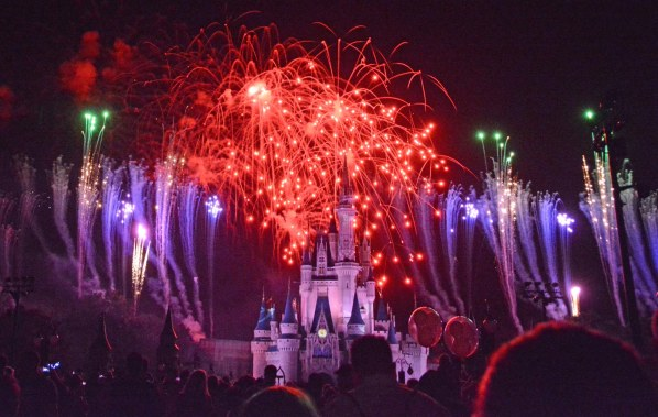 Tomorrow is the Fourth of July of 2016 and here is another fireworks photo by Allison. She got some great shots of fireworks on Friday, Oct. 16, 2015, during Mickey's Not-So-Scary Halloween Party at the Magic Kingdom. Of course the fireworks go off over the Cinderella Castle at Walt Disney World.