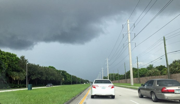 There was a dark cloud literally over my car as I drove home from work on July 28, 2016, in Naples, Fla.