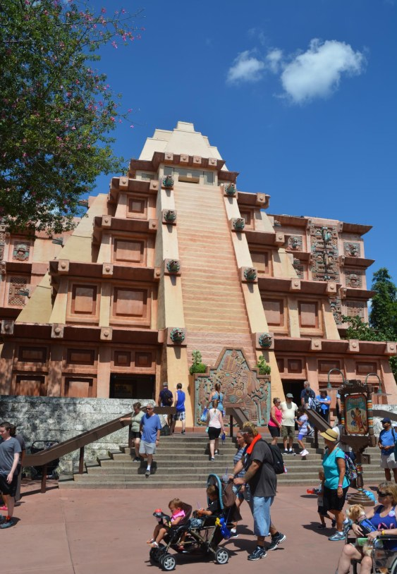 I've done this shot before and like to post that I do like the look of the pyramid that dominates the Mexico Pavilion in the World Showcase at EPCOT. I took the photo on Aug. 19, 2016, during our visit to the park at Walt Disney World.