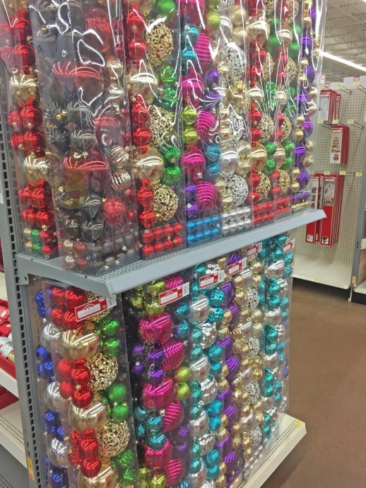 Well, I know there is Halloween stuff at stores other than Party City, but when the Christmas stuff goes up in September, you know that retail America doesn't care about Halloween and Thanksgiving any more. Here's the first display of Christmas accoutrements going onto shelves at the Walmart near our home in Naples, Fla., on Sept. 25, 2016.