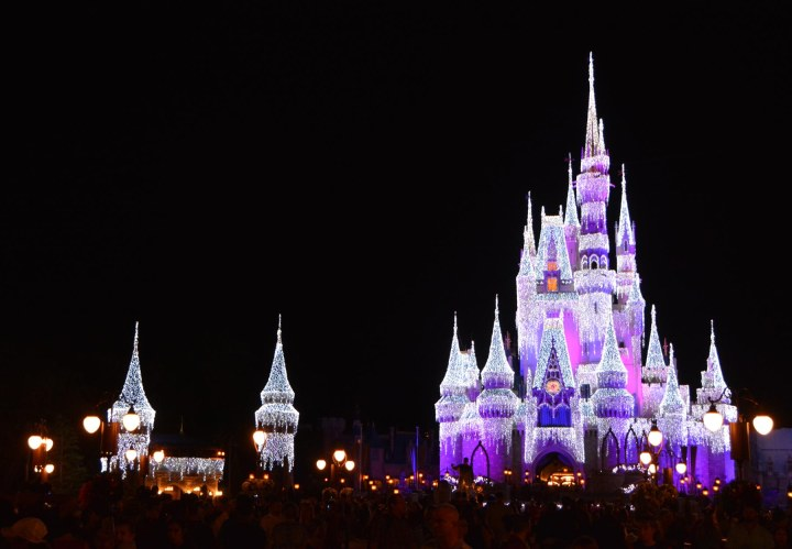 We're back at Walt Disney World for Allison to run the Disney Wine & Dine Half Marathon. Here's a shot she got at the Magic Kingdom on the night before the race (Nov. 5, 2016). She's great with fireworks and nighttime photos with my or her Nikon DSLR. Cinderella Castle had an ever more fairy tale look about it.