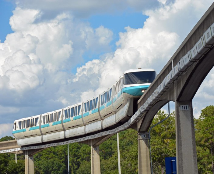 I just love posting photos of a monorail train. I've posted photos of this train as we were leaving EPCOT on Oct. 1, 2016, and here's another one. We were there for the Epcot International Food & Wine Festival on a day trip. I always get a shot of the monorail system when we're at Walt Disney World.