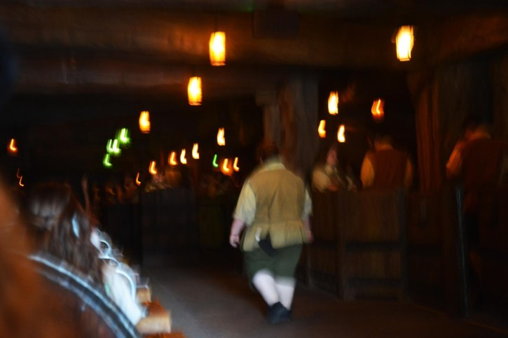 We're arriving at the end of the Seven Dwarfs Mine Train ride and this is a photo stylized by light and movement. I got this shot while we were at the Magic Kingdom for a weekend visit to Walt Disney World on May 7, 2016.