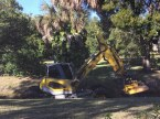 Debbie got this shot of the drainage ditch cleaning machine on Nov. 22, 2016, at the back of our home in Naples, Fla. The machine makes its slow trek along the storm water drainage ditch every couple of years.