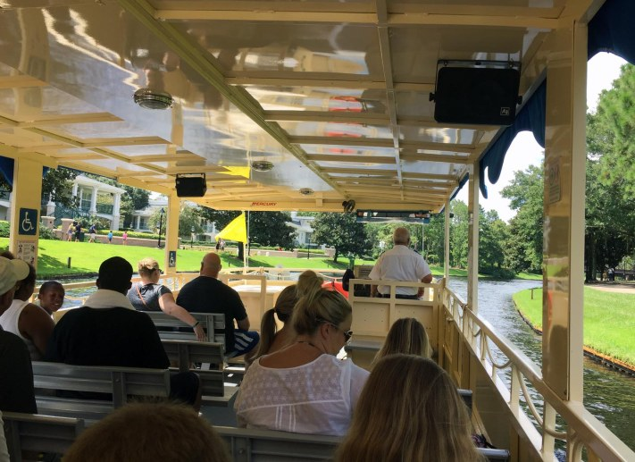 It was a serene trip aboard the transportation vessel riding to Disney Springs from Disney's Port Orleans Resort – Riverside when I got this shot on Aug. 18, 2016, during our multi-day visit to Walt Disney World.