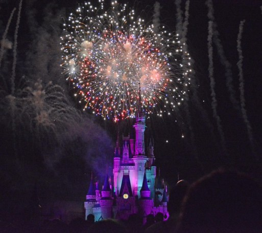 OK, 2017 is just about at our doorstep. I'm posting some past photos of fireworks that Allison got in 2015. She got this one at the fireworks show on Oct. 16, 2015, during Mickey's Not-So-Scary Halloween Party at the Magic Kingdom at Walt Disney World.