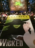 Debbie got this nice shot of the Wicked playbill at the Broadway show when she and Allison saw a matinee performance on Dec. 10, 2016. They were in New York for a four-day visit.