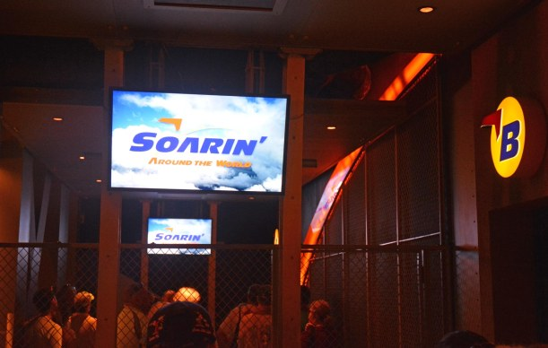 We really like the update to the Soarin' ride at EPCOT. I don't sneak any photos while the ride is going, but here's one I got as we waited in line on Oct. 1, 2016. We were on a day trip to Walt Disney World.