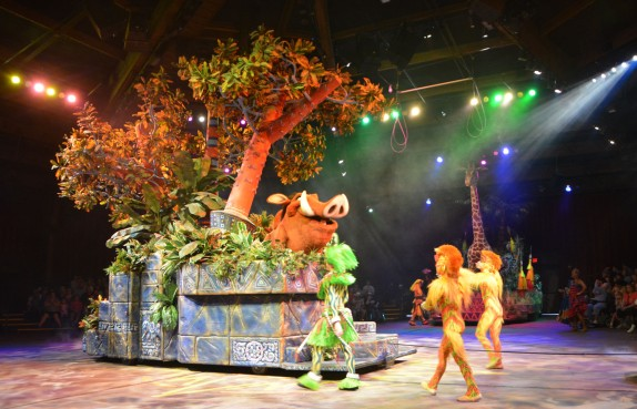 "As we haven't been back to Walt Disney World in 2017, I'm posting from my digital vault of past visits. One truly neat stage shows (even better than ""Beauty and the Beast – Live on Stage"") is the Festival of the Lion King at the Animal Kingdom park. I got this shot on Feb. 8, 2015, during the performance. It's definitely impossible to get a bad photo at this show."