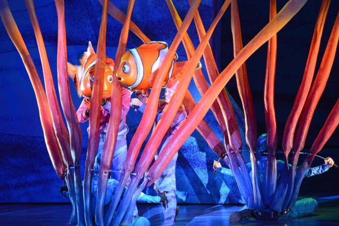 Look close and you'll see a smile on this performer during Finding Nemo – The Musical. I got the shot while visiting the Animal Kingdom park on Feb. 8, 2015, during the performance at Walt Disney World.