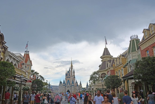 We'd always like to have perfect weather at Walt Disney World. However, perfections is just not possible with weather. Here's a shot Allison got on Aug. 16, 2015, of a storm cloud coming in over the Magic Kingdom. Allison and Debbie were at Walt Disney World on a long weekend when she got this shot.