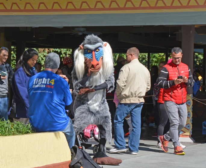 """Before we get back to Walt Disney World for the first time in 2017, I'm posting some shots from past visits. Here's another one of """"The Lion King"""" character """"Rafiki"""" at Adventureland at the Magic Kingdom. I got this shot Feb. 7, 2016, while we were on the ride during a long weekend visit."""