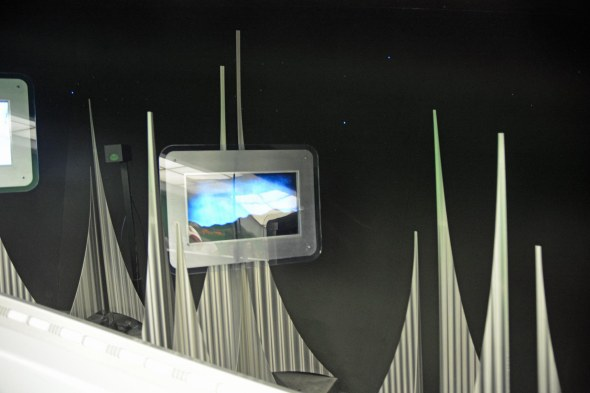 What's this? You don't see any iconic imagery of Walt Disney World in this photo, but it was taken at one of the most iconic Disney rides: Space Mountain. It is of the video monitors as you exit the ride and see yourself on a screen (that used to be really high-tech). We were at the Magic Kingdom on Feb. 4, 2017, when I got this shot trying to get a picture of one of us on the screen.